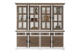 Martinique Glass cabinet 4 doors