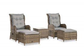 Portofino Relaxset met coffee table, inclusief alle zit- en rugkussens