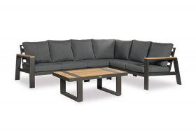 Brava Loungeset met coffee table inclusief alle zit- en rugkussens