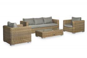 Santa Monica Livingset met coffee table inclusief alle zit- en rugkussens
