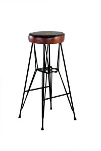 Indra Vintage Barchair black finishing