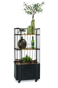 Quincy Vintage Trolley black finishing