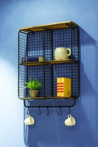 Wells Vintage Wall Rack black sfeer