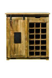 Kansas Vintage Wine Cabinet