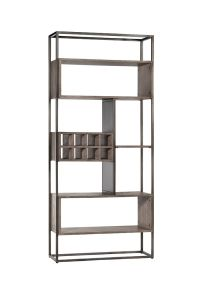 Atlanta Roomdivider with winerack Pole Grey Oak