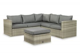 Safari Livingset met coffee table, inclusief alle zit- en rugkussens