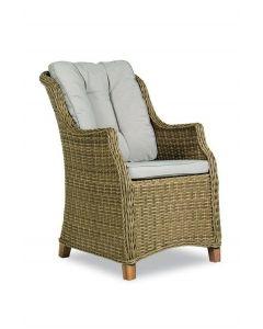 Monaco Diningchair with wooden legs, inclusief zit- en rugkussen