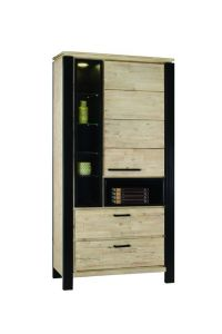 Elliot Cabinet 1 door, 2 drawers including Led Light