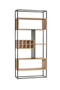 Atlanta Roomdivider with winerack Natural Oak